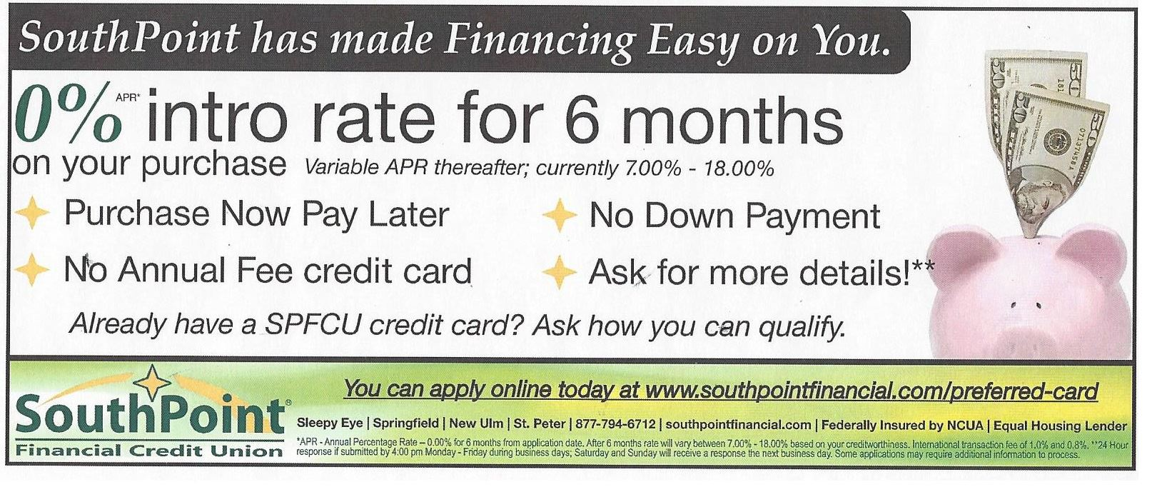 Financing with Southpoint Financial